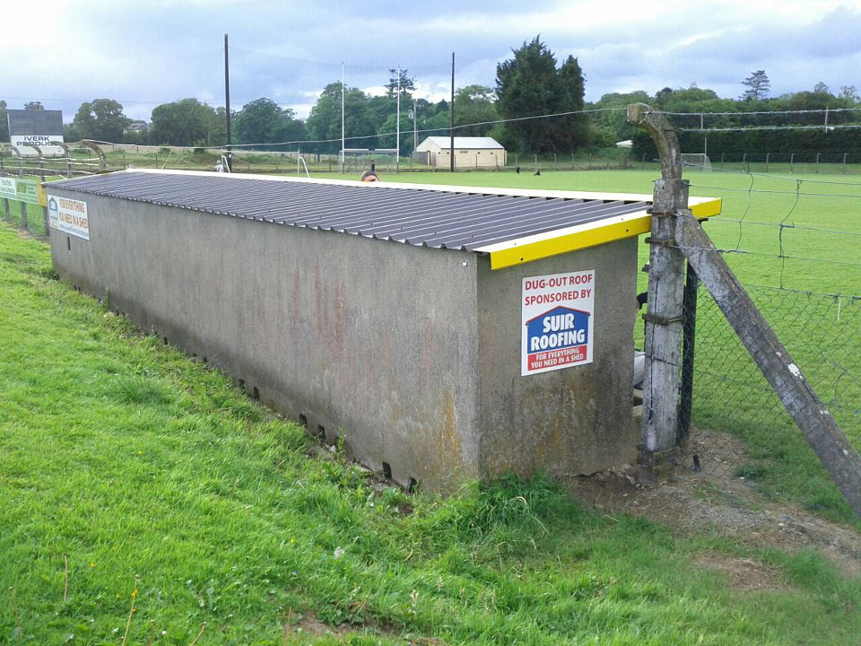 Dugout in Piltown GAA Complex